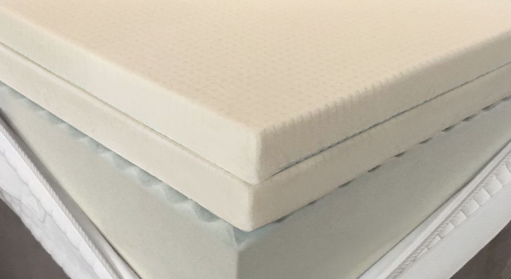 Angenehm weicher Doppel-Topperkern aus 2x Talalay-Latex