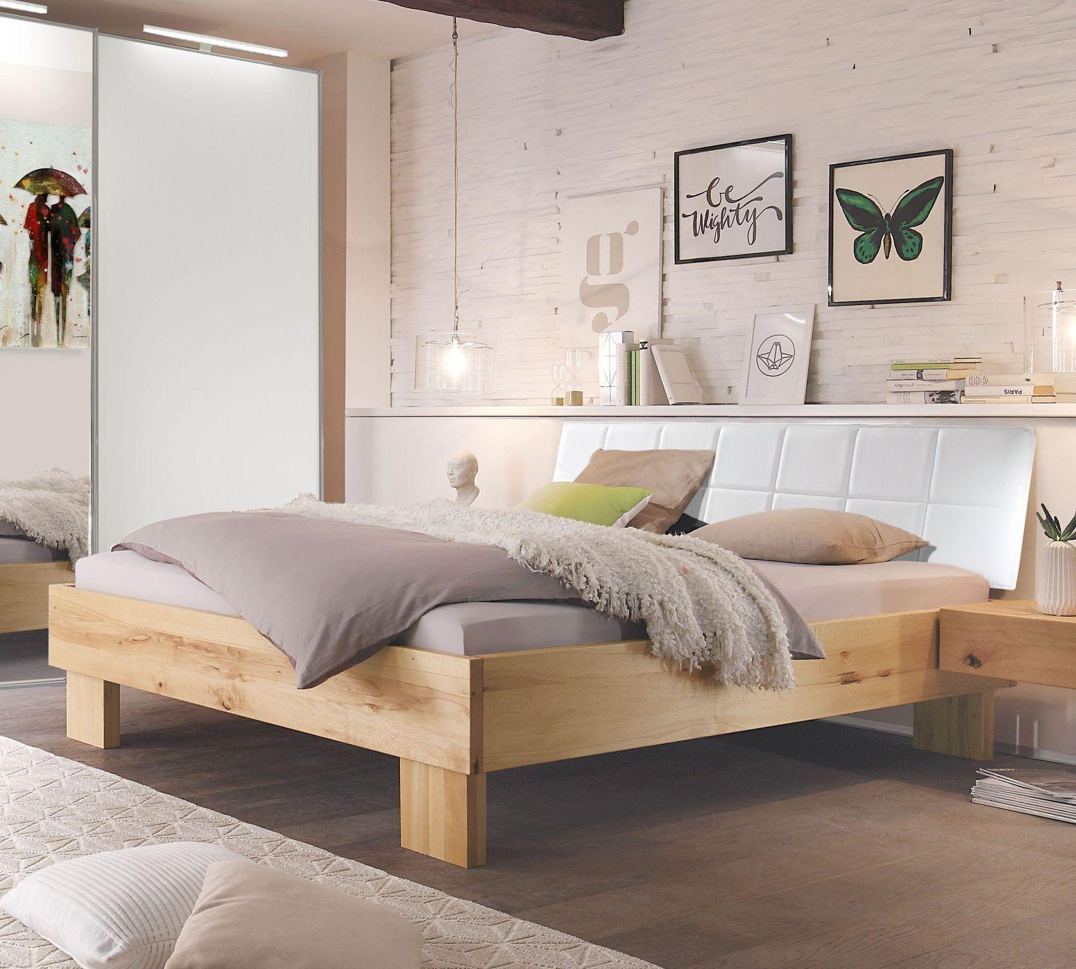 Schön Bett Nemea Aus Massivem Wildbuchenholz