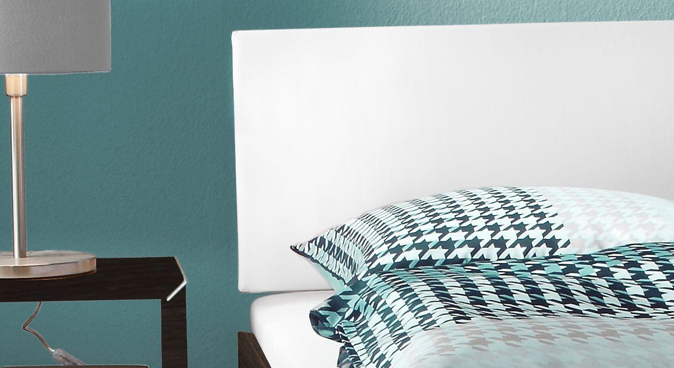 Doppelbett Legano in Eiche Kopfteil weiß