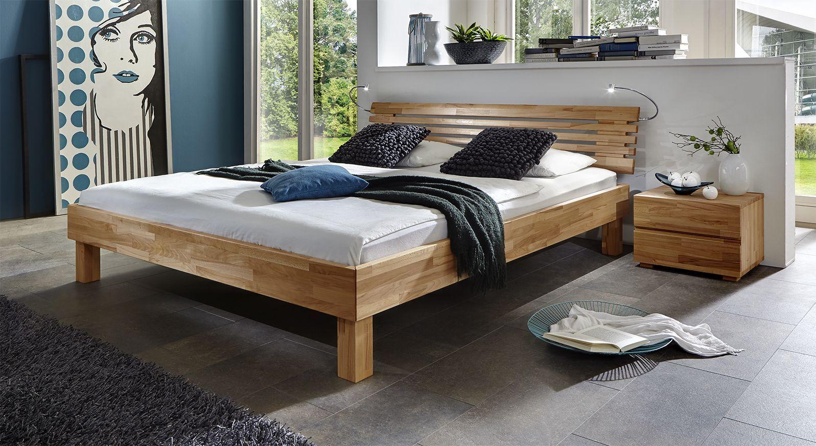 Doppelbett Livenza aus massivem Kernbuchenholz
