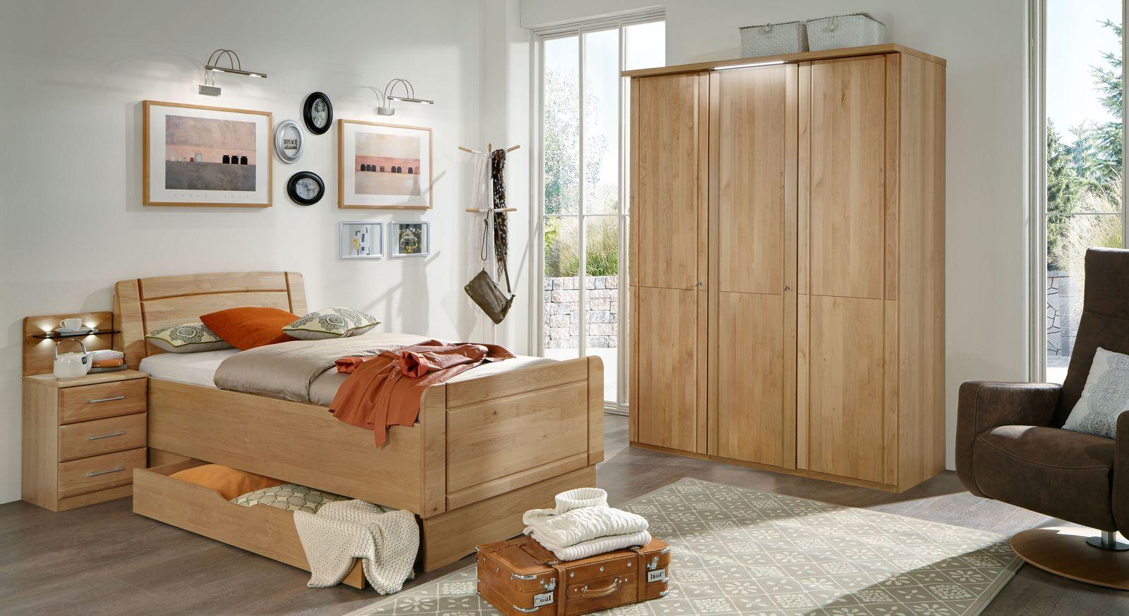 Drehtüren-Kleiderschrank Ageo Holzfront mit passenden Möbeln