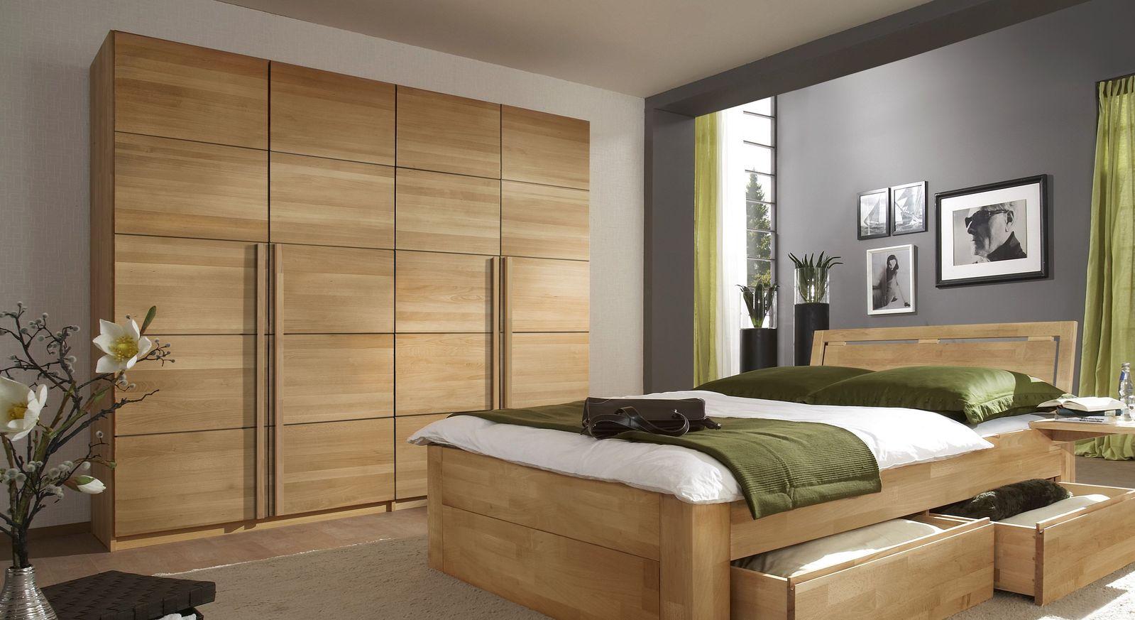 Drehtüren-Kleiderschrank Andalucia aus massivem Buchenholz