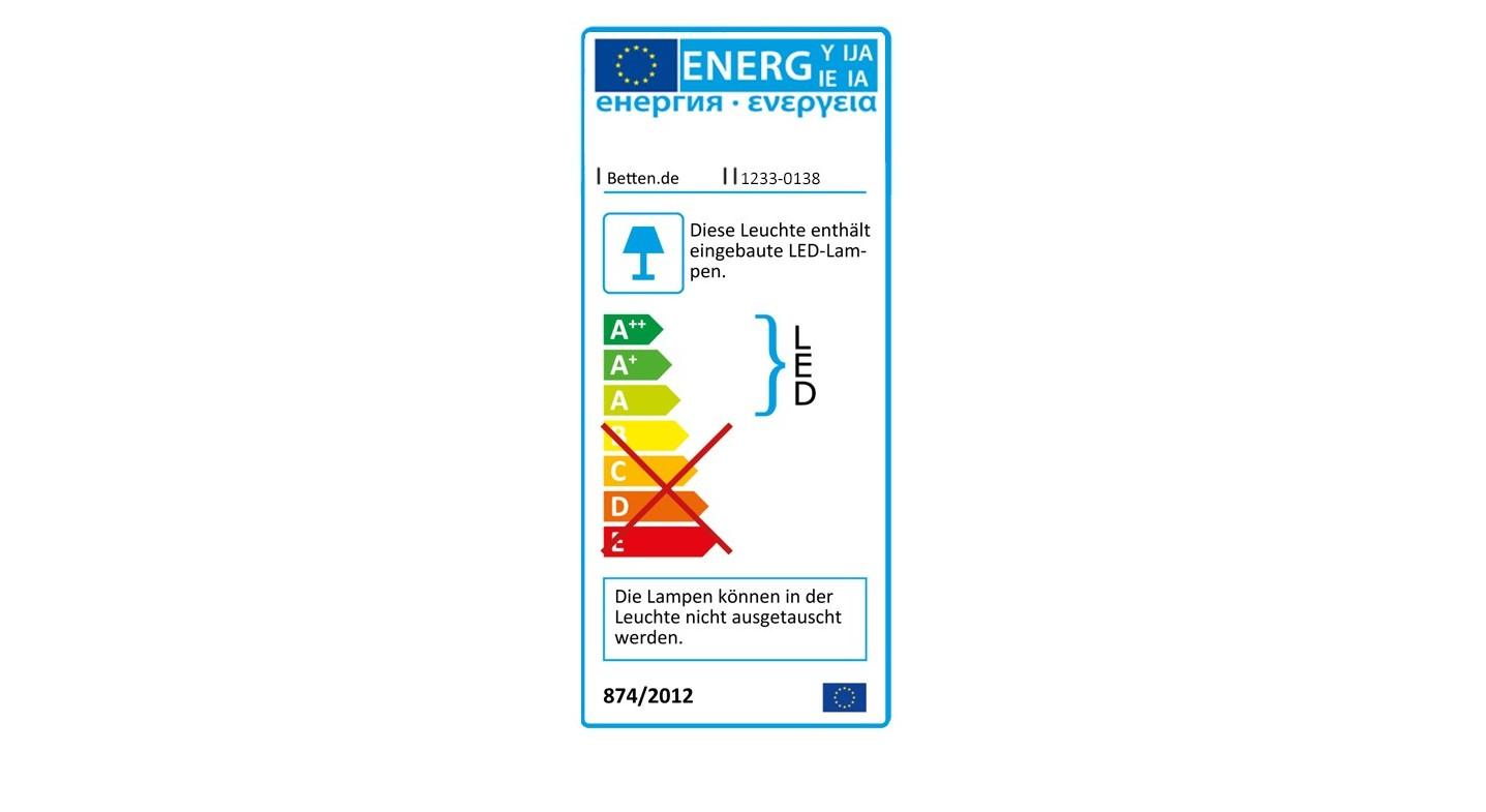 Ernergie-Verbrauchskennzeichnung für den Drehtüren-Kleiderschrank Burbia