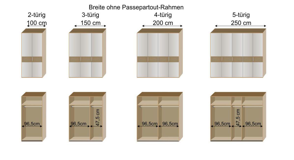 Grafik zur Inneneinrichtung des Drehtüren-Kleiderschranks Chipperfield