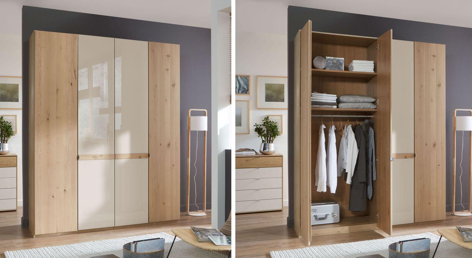 Drehtüren-Kleiderschrank Corato inklusive Innenausstattung
