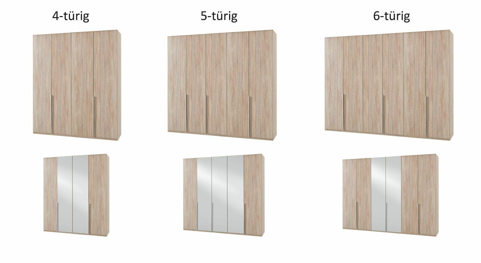 Breite Varianten des Drehtüren-Kleiderschranks Coreno