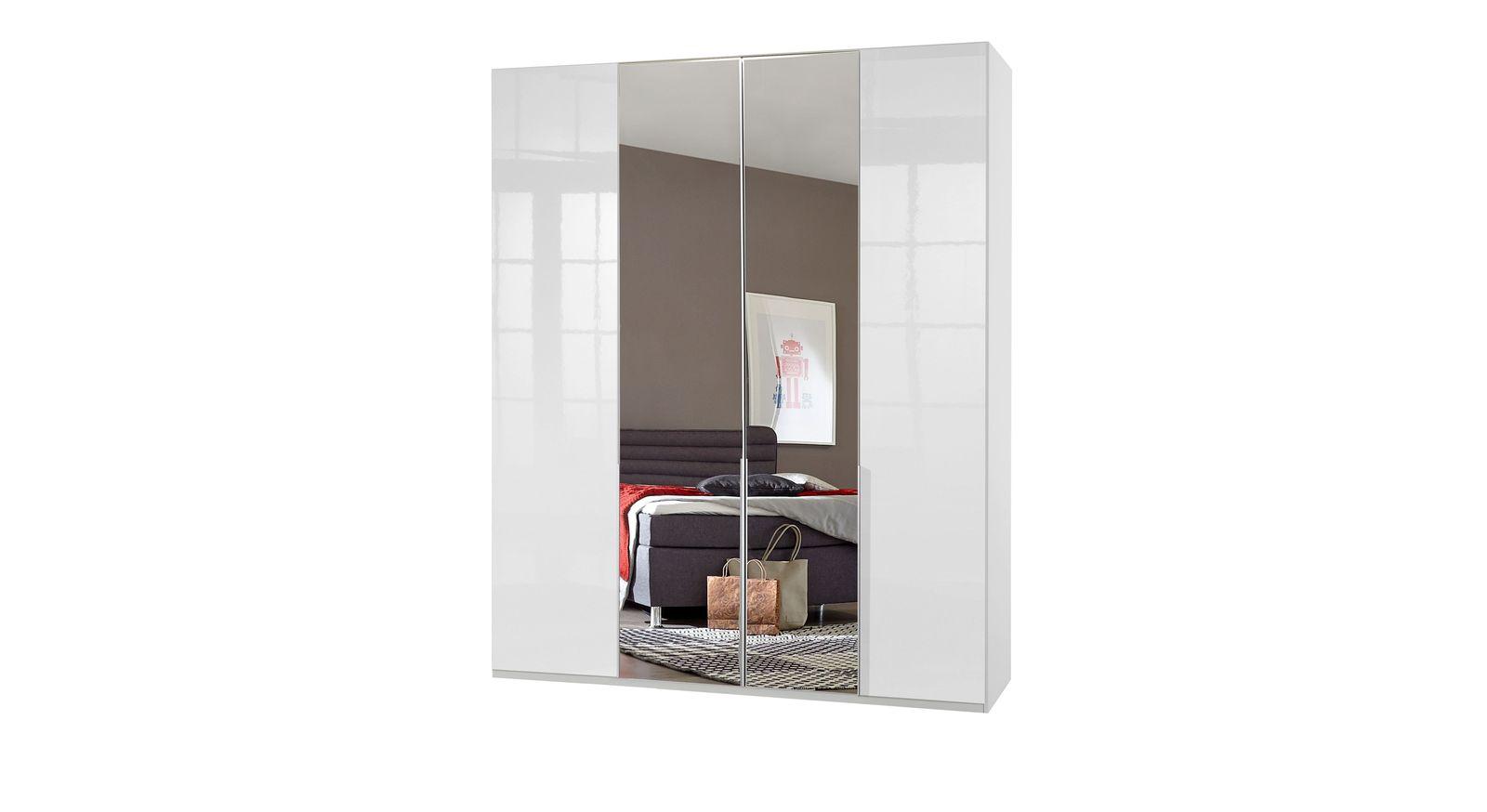 Drehtüren-Kleiderschrank Esperia mit optionalem Spiegel