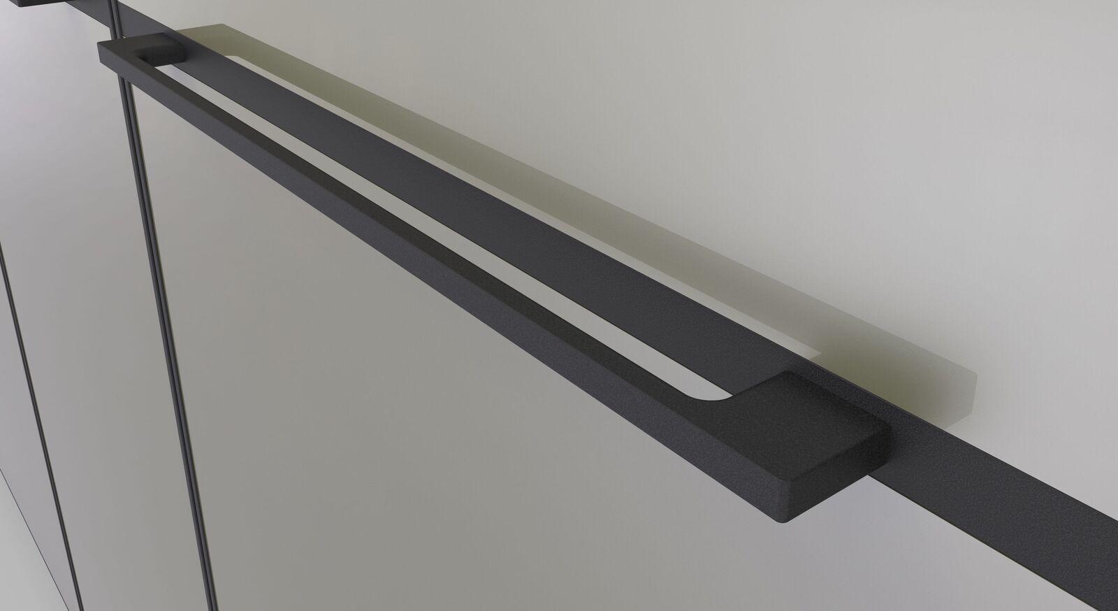 Drehtüren-Kleiderschrank Loyd mit Metallgriff