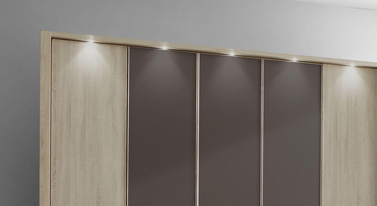 Drehtüren-Kleiderschrank Mallow optionalem Passepartout-Rahmen