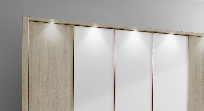 Drehtüren-Kleiderschrank Milltown mit optionaler Beleuchtung