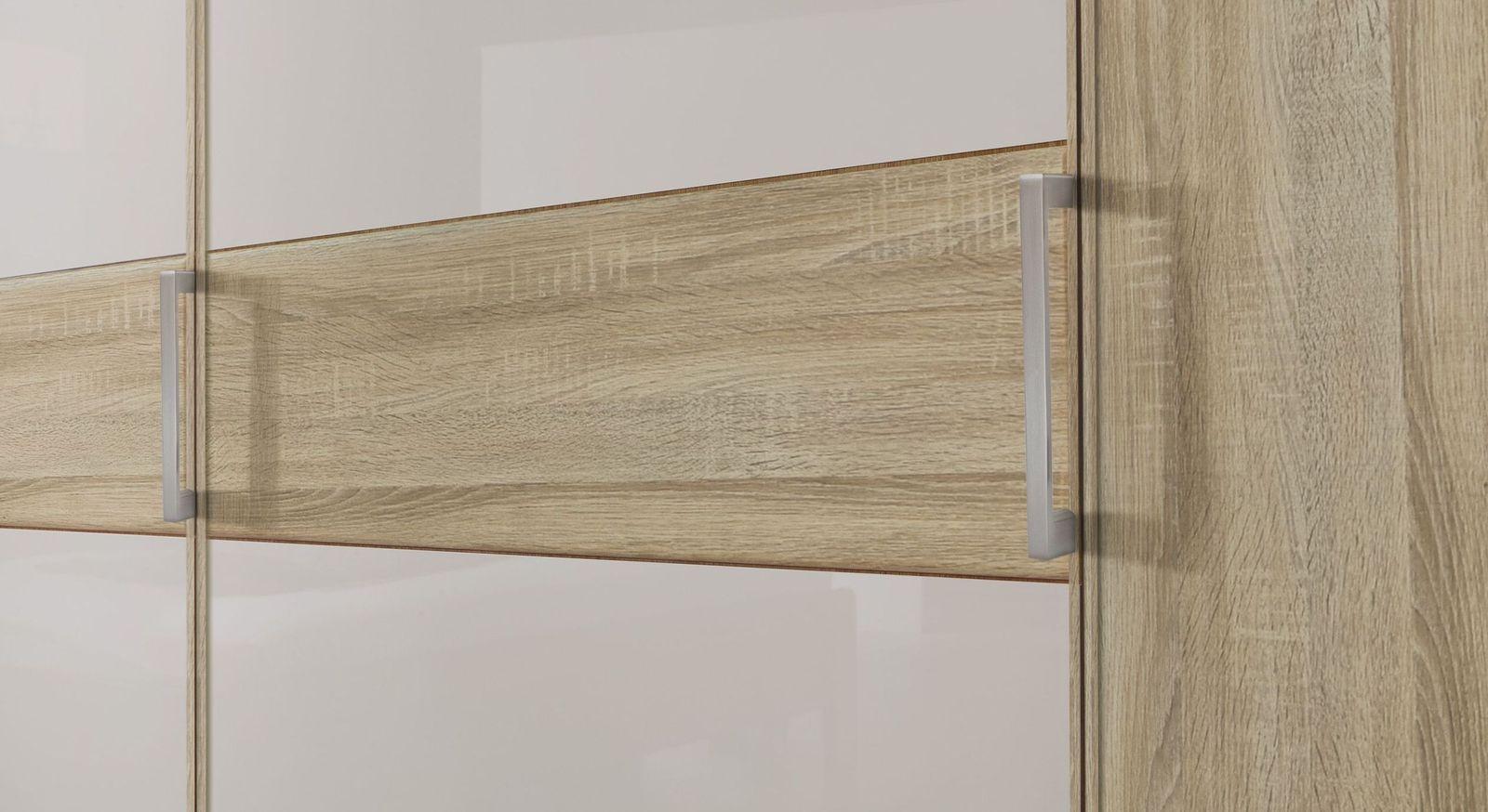 Drehtüren-Kleiderschrank Pelham mit schicken Metallgriffen