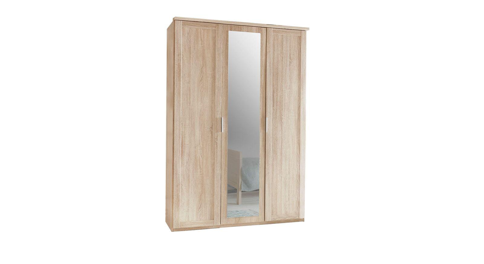 Drehtüren-Kleiderschrank Sinello mit 3 Türen und Spiegel