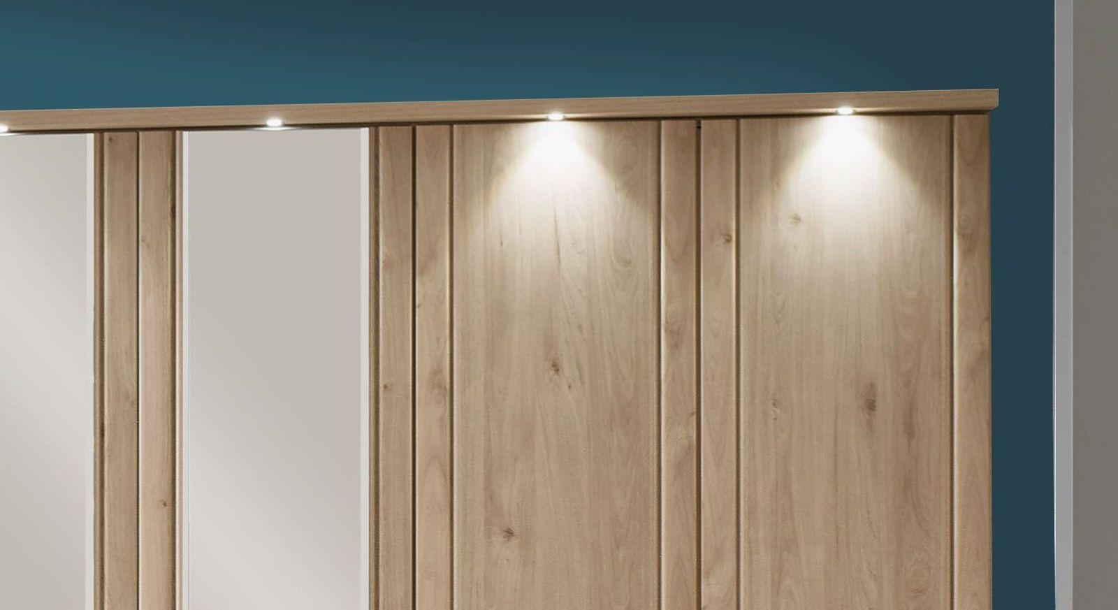 Drehtüren-Kleiderschrank Telford mit schicker Beleuchtung