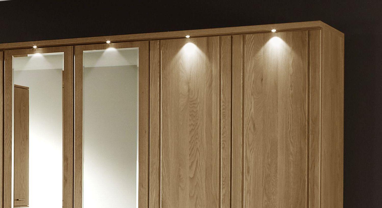 Drehtüren-Kleiderschrank Toliara mit Power-LED-Beleuchtung
