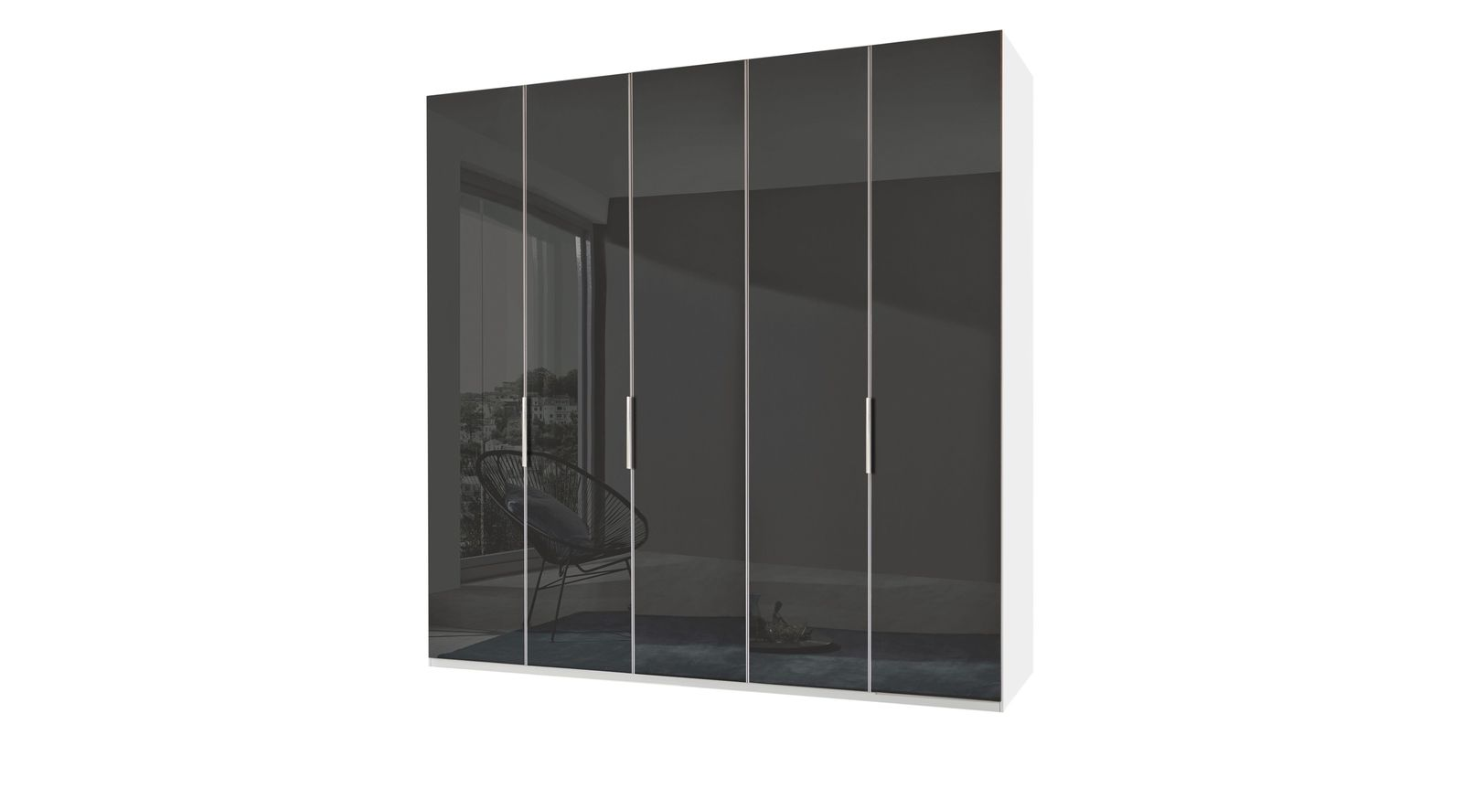 Drehtüren-Kleiderschrank Tramonti mit eleganter Glasfront