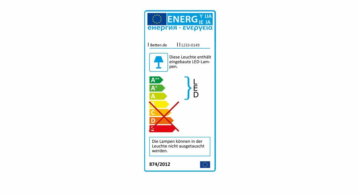 Energieverbrauchskennzeichnung vom Drehtüren-Kleiderschrank Zeven