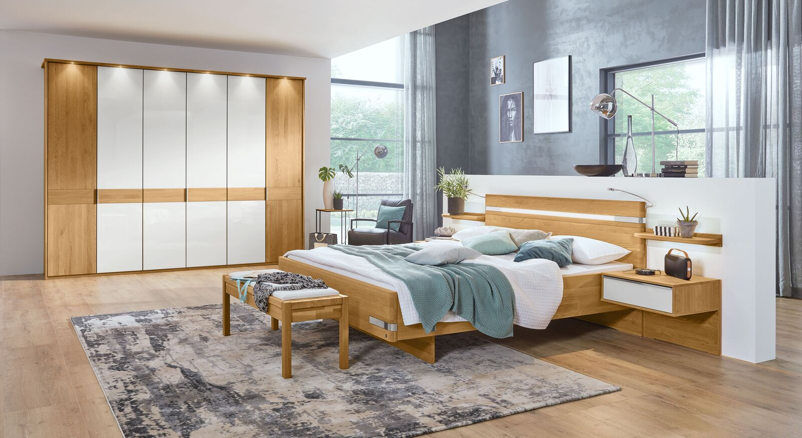 MUSTERRING Schlafzimmer Savona mit Drehtürenschrank und optionalem Zubehör