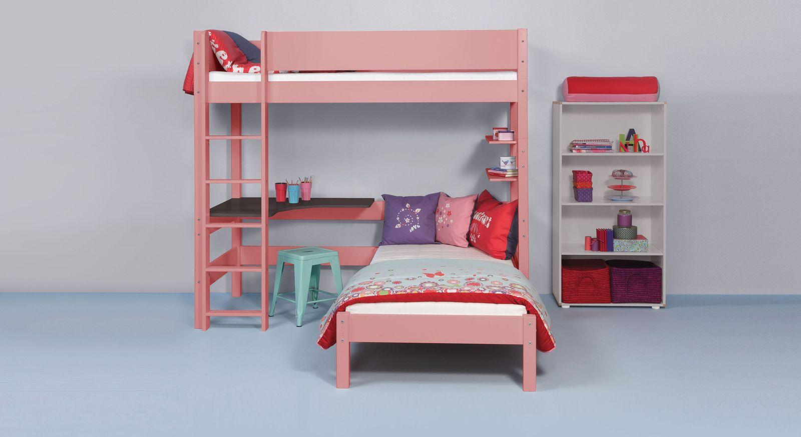 Etagenbett Mit Richtigem Lattenrost : Farbiges eck etagenbett in drei breiten kids town color