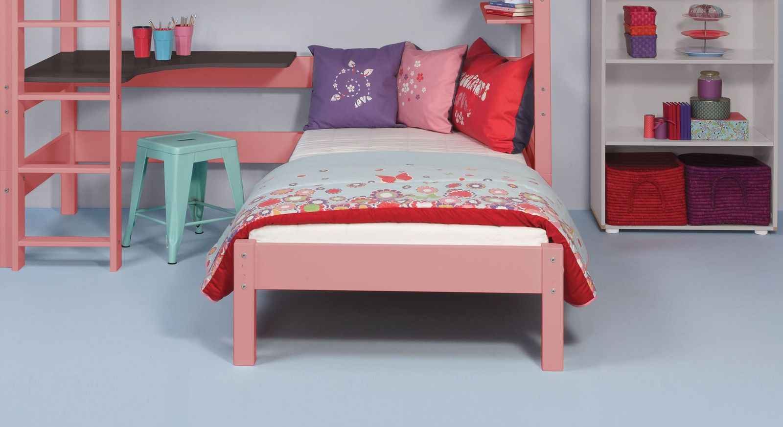 Eck-Etagenbett Kids Town Color mit zwei Schlafplätzen