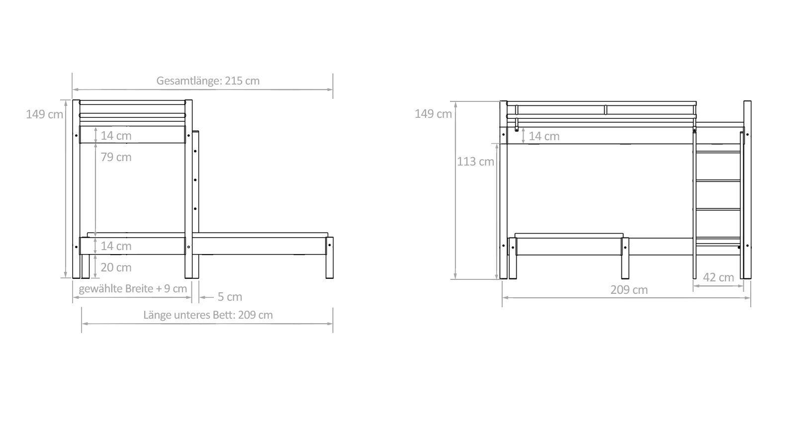 eck etagenbett simple hasena midi buche cm mit treppe with eck etagenbett latest justyou tom. Black Bedroom Furniture Sets. Home Design Ideas