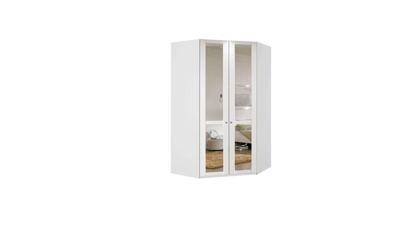 Eck-Kleiderschrank Alvito im modernen Landhaus-Stil