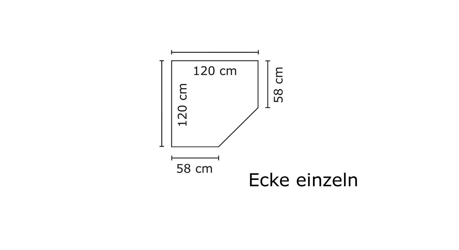 Stellfläche des Eckelements vom Eck-Kleiderschrank Ceprano