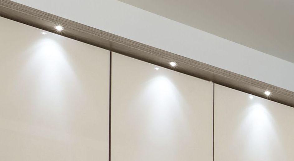 Eck-Kleiderschrank mit optionaler LED-Beleuchtung