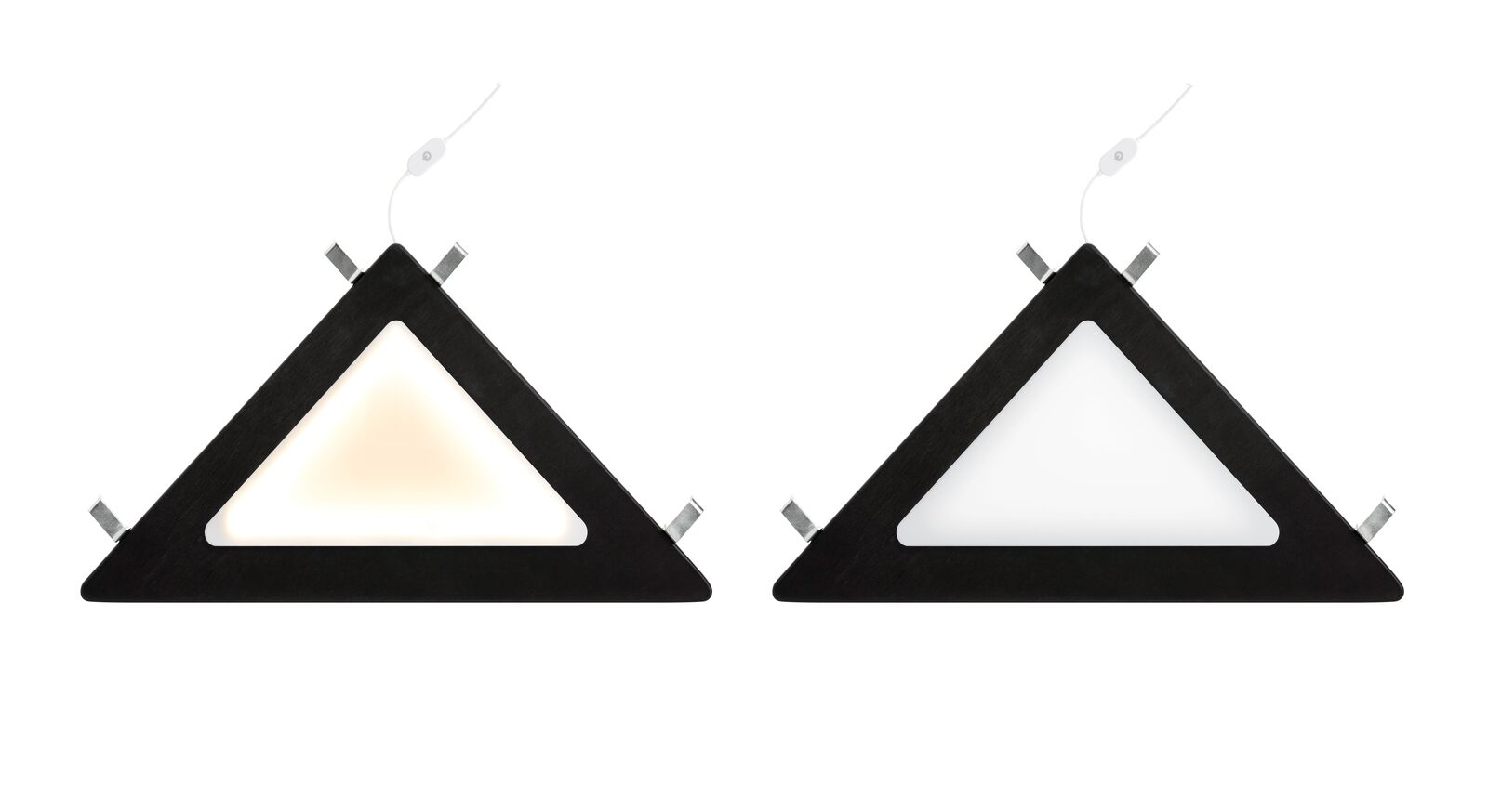 Praktische LIFETIME Eckablage mit LED in Schwarz