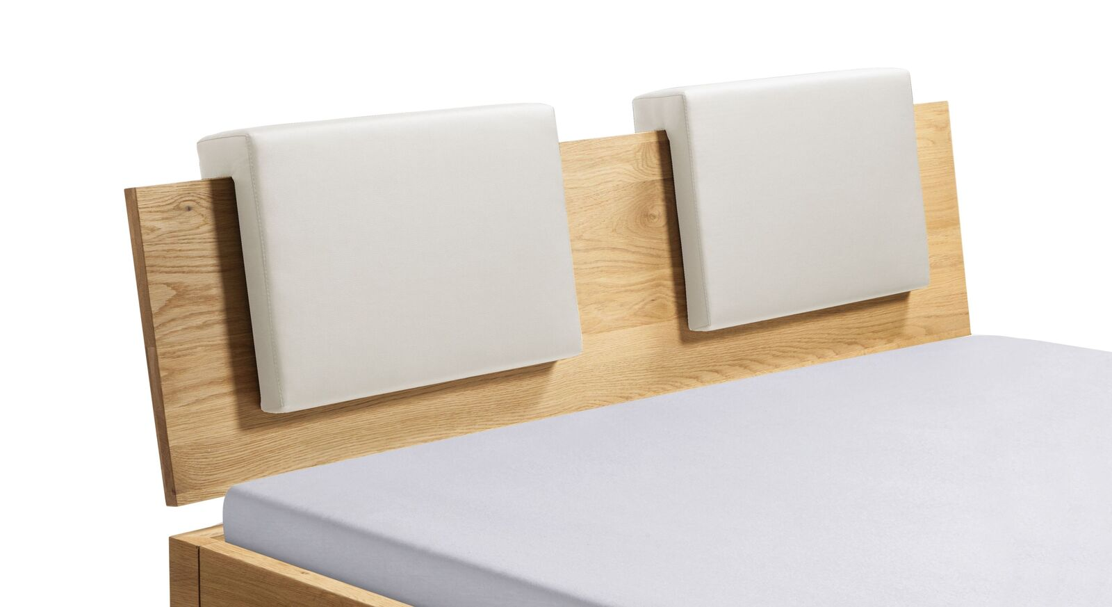 Einsteck-Kissen Rimini mit Kunstlederbezug in Weiß