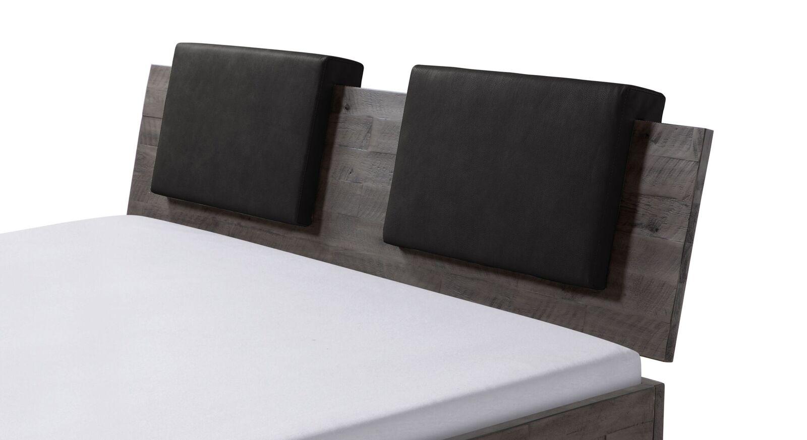 Einsteck-Kissen Rimini mit Luxus-Kunstlederbezug in Schwarz