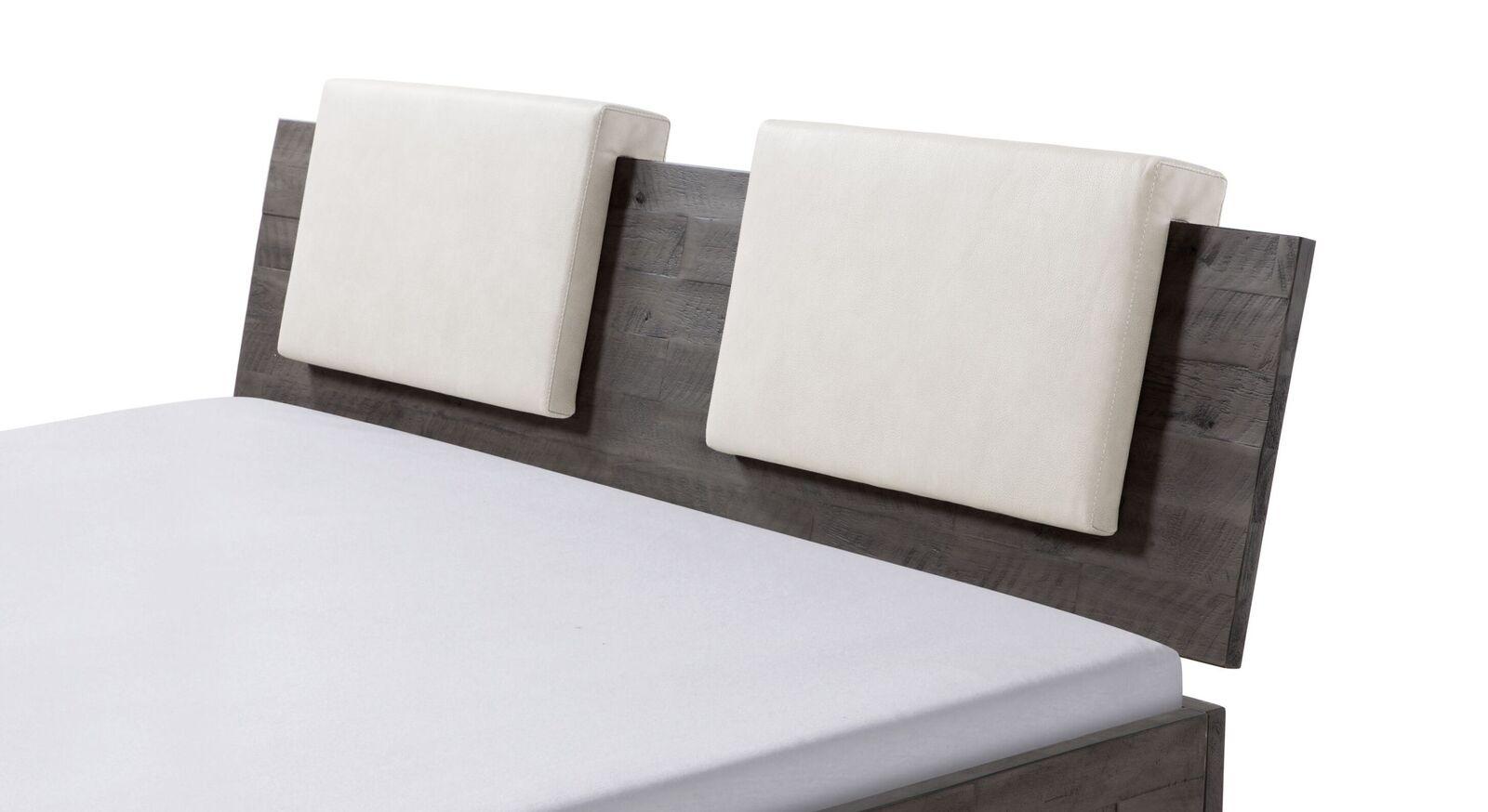 Einsteck-Kissen Rimini mit Luxus-Kunstlederbezug in Weiß