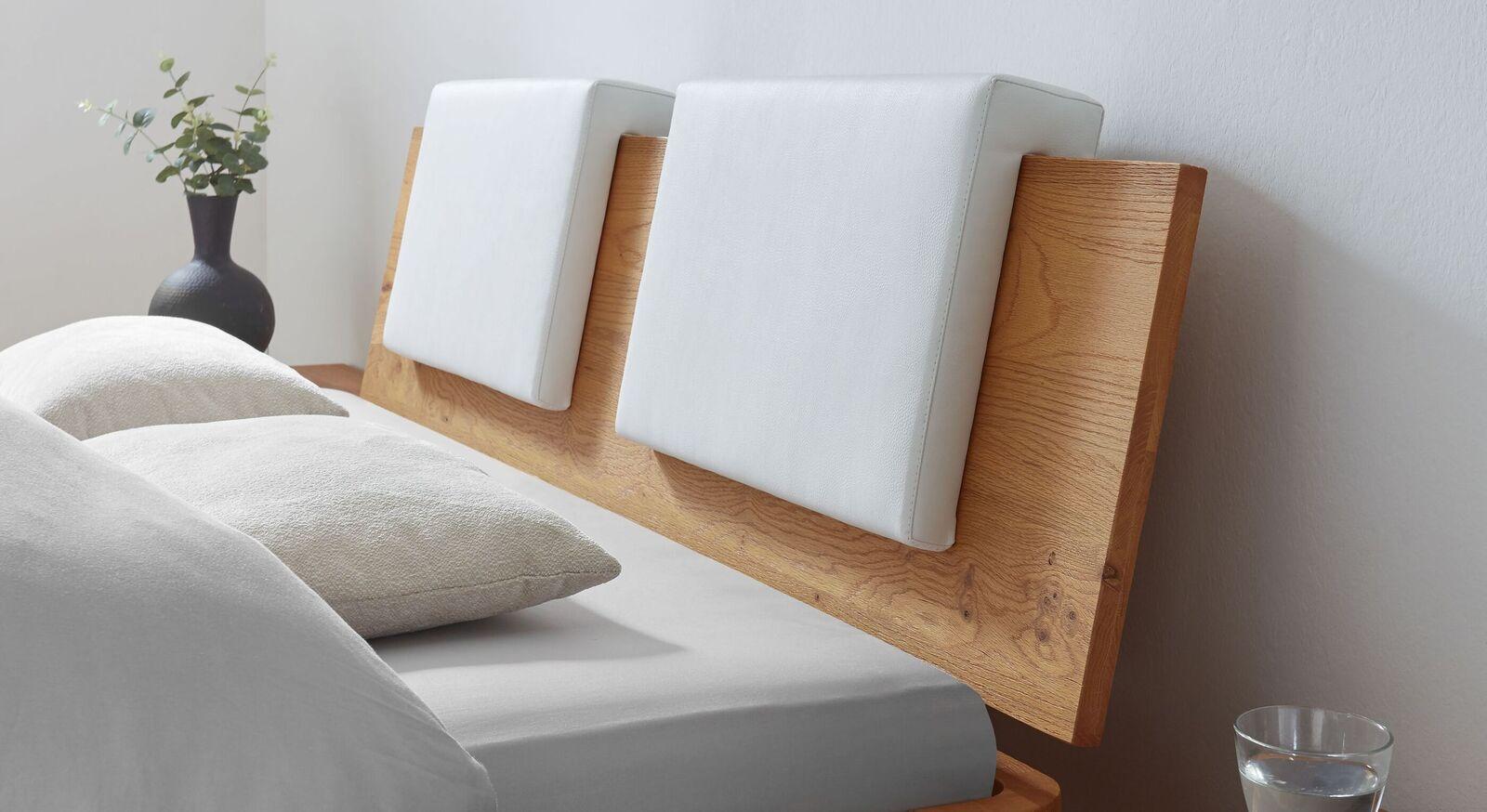 Einsteck-Kissen Rimini aus Luxus-Kunstleder für Holzkopfteile