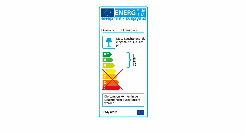 Energieverbrauchskennzeichnung vom Bett Fresno