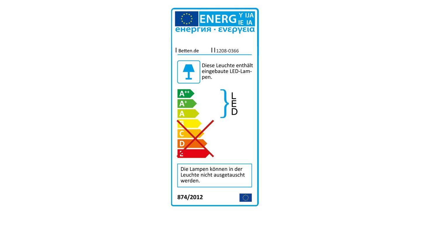 Energieverbrauchskennzeichnung vom Bett Hayward