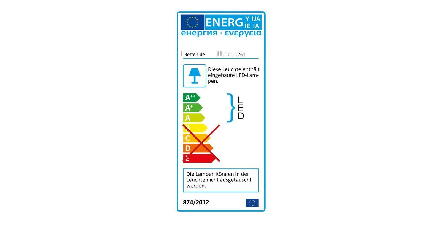 Energieverbrauchskennzeichnung vom Bett Karama