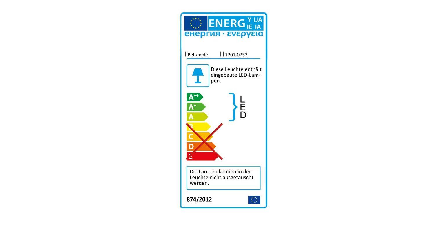 Energieverbrauchskennzeichnung vom Bett Livingston