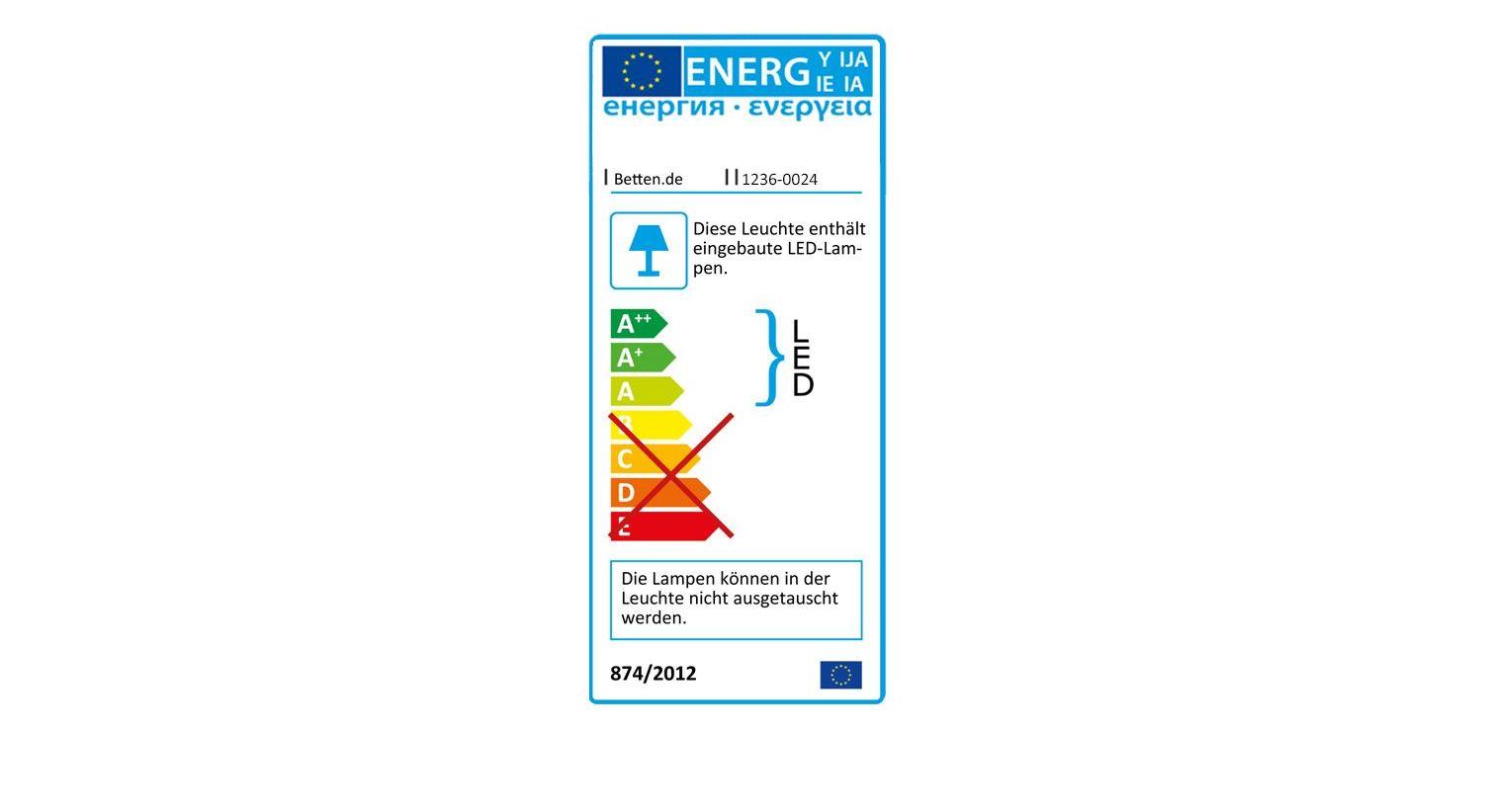Energieverbrauchskennzeichnung vom Falttüren-Kleiderschrank Southville