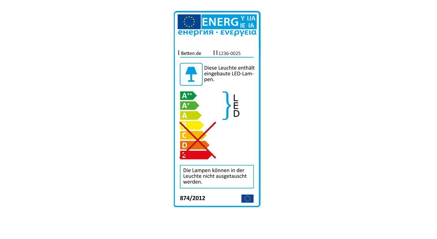 Energieverbrauchskennzeichnung vom Funktions-Kleiderschrank Southville