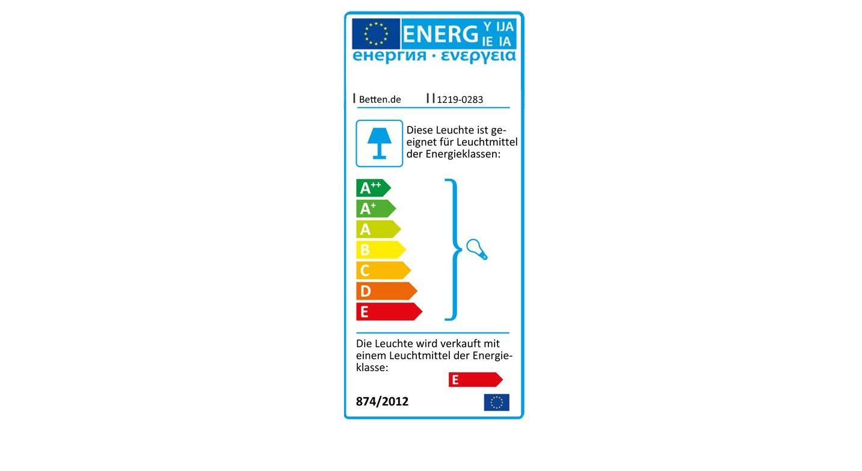 Energieverbrauchskennzeichnung der Bettbrücke Palena