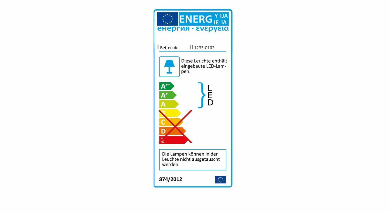 Energieverbrauchskennzeichnung von der LED-Vorbauleuchte Evansville
