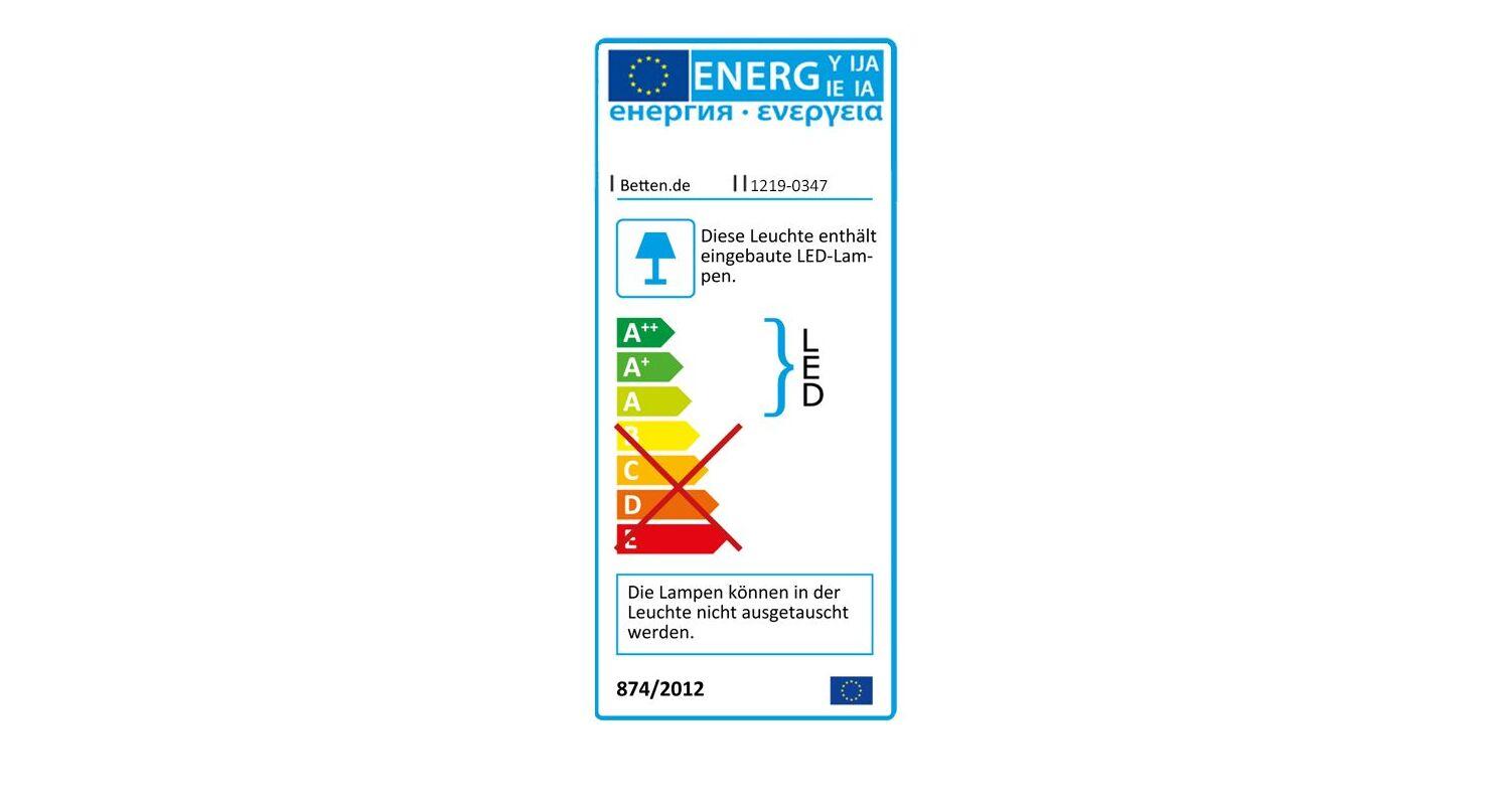 Energieverbauchskennzeichnung zum MUSTERRING Hänge-Paneel Savona