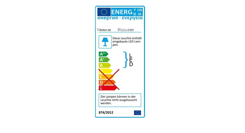 Energieverbrauchs-Kennzeichnung zum Nachttisch Chipperfield