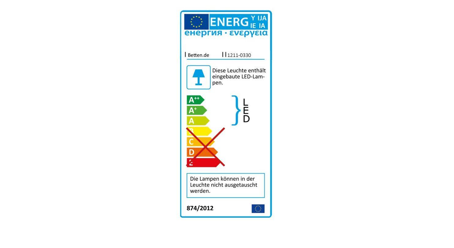 Energieverbrauchskennzeichnung vom Nachttisch Crawley