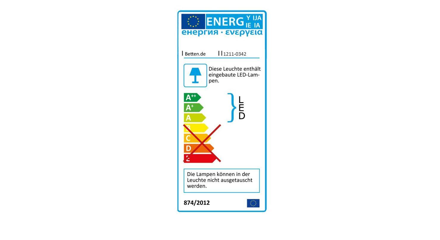 Energieverbrauchskennzeichnung vom Nachttisch Paterson