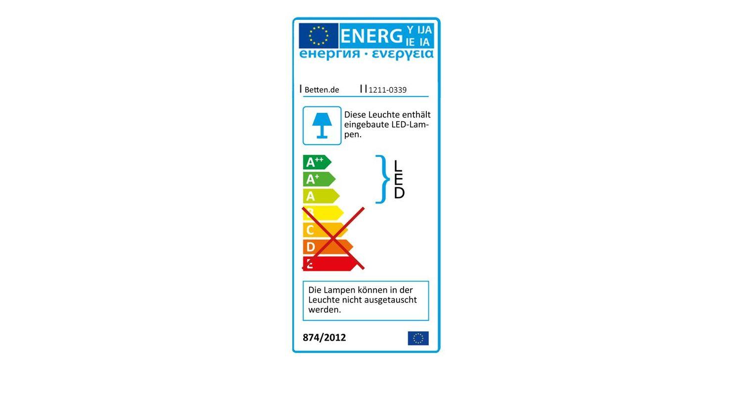Energieverbrauchskennzeichnung vom Nachttisch Plymouth Komfort