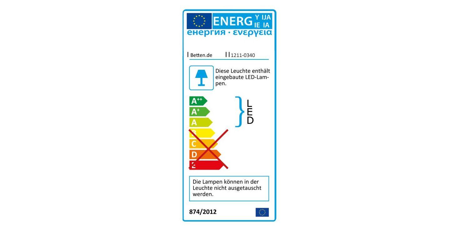 Energieverbrauchskennzeichnung vom Nachttisch Plymouth