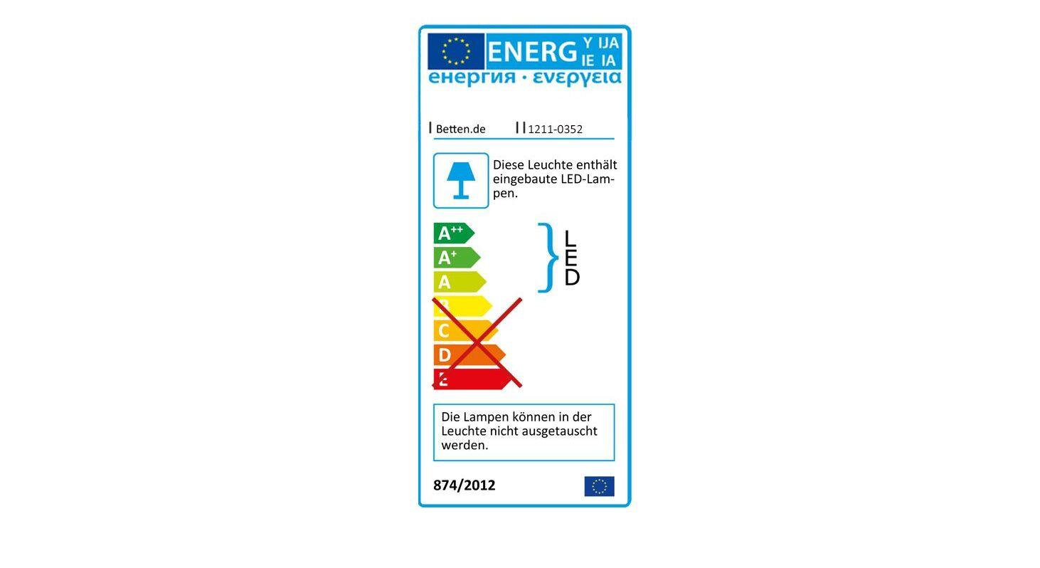 Energieverbrauchskennzeichnung vom Nachttisch Tulsa