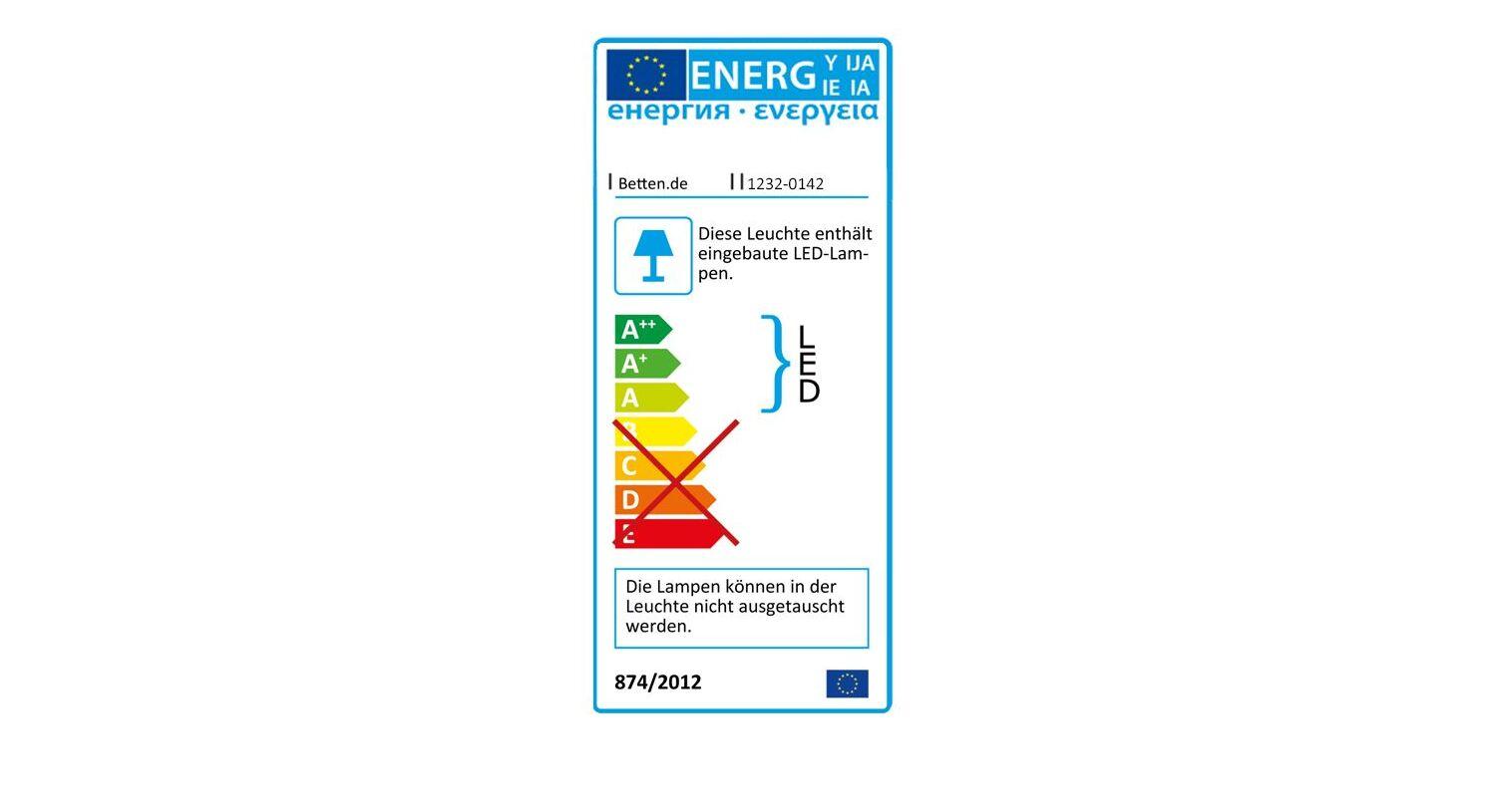 Energieverbrauchskennzeichnung vom Schwebetüren-Kleiderschrank Kiraly