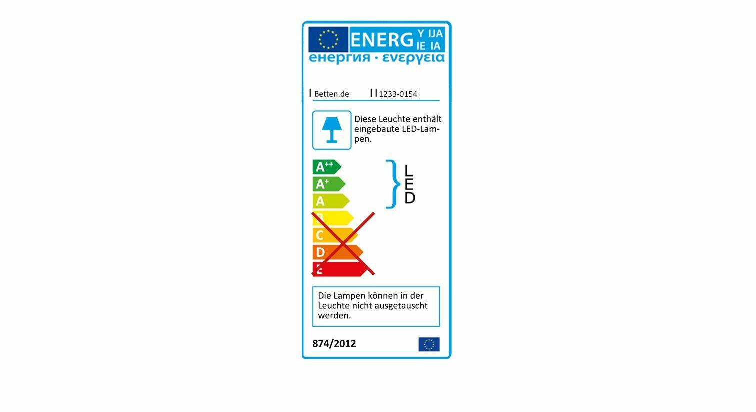 Energieverbrauchskennzeichnung vom Spiegel-Kleiderschrank Naila