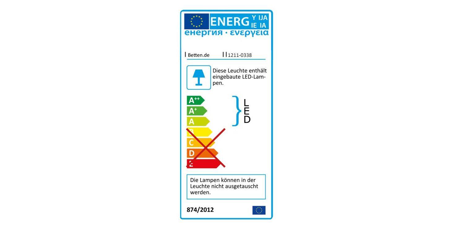 Energieverbrauchskennzeichnung vom Nachttisch Fanstown